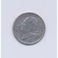 1/4 Franc - 1821 A Paris - Louis XVIII - TTB+
