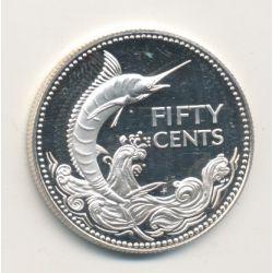 Bahamas - 50 Cents - 1977