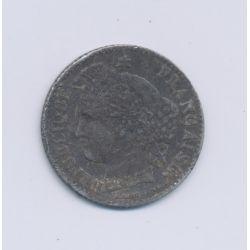 20 centimes Cérès - 1850 K Bordeaux - oreille basse - TB