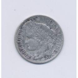 20 centimes Cérès - 1850 K Bordeaux - oreille basse - TB+