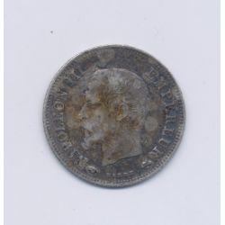 20 centimes Napoléon III - 1859 A Paris - Tête nue - TB