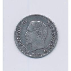 20 centimes Napoléon III - 1860 BB Strasbourg - Tête nue - TTB