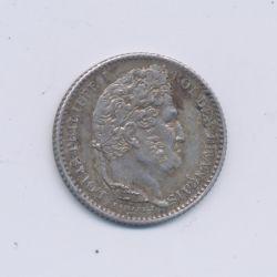 25 centimes Louis Philippe I - 1845 B Rouen - TTB+