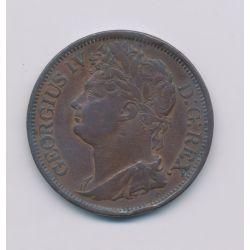 Irlande - 1 Penny 1822 - George IV - bronze - TB+