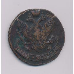 Russie - 5 Kopek - 1796 AM - Catherine II - cuivre - TTB