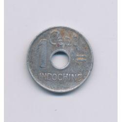 Indochine - 1 Centimes - 1943 Hanoi - aluminium - TTB