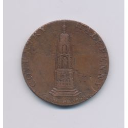 Angleterre - Token - 1/2 Penny Coventry - 1794 - cuivre - TB
