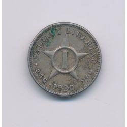 Cuba - 1 Centavo - 1920 - nickel - TTB