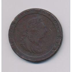 Angleterre - George III - Penny 1797 - cuivre - TB