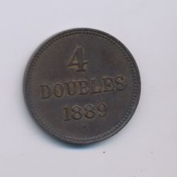 Guernesey - 4 Doubles - 1889 H - bronze - TTB