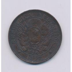 Argentine - 2 Centavos - 1892 - bronze - TTB