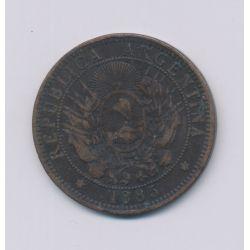 Argentine - 2 Centavos - 1885 - bronze - TTB