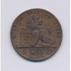 Belgique - 5 Centimes - 1848 - bronze - TTB
