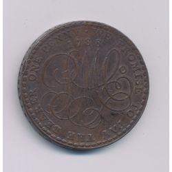 Angleterre - Token - Penny Anglesy Mines - 1788 - cuivre - TTB+