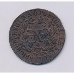 Portugal - 10 Reis - 1799 - Maria I - cuivre - TTB+
