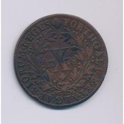 Portugal - 10 Reis - 1778 - Maria I - cuivre - TTB+