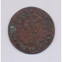 Portugal - 10 Reis - 1765 - Joseph I - cuivre - TB