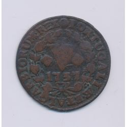 Portugal - Maria I - 5 Reis - 1737 - cuivre - TB