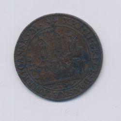 Antilles Danoises - 24 Skilling - 1764 - Christian VII - cuivre - TB/TB+