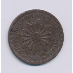 Uruguay - 2 Centesimos - 1869 A - bronze - TTB