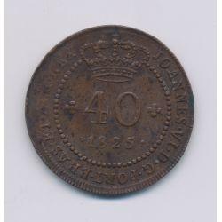 Saint thomas et prince - 40 Reis - 1825 Lisbonne - cuivre - TTB