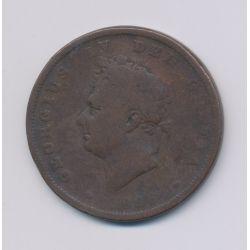 Angleterre - George IV - Penny 1826 - cuivre - TB
