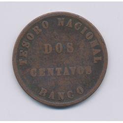 Argentine - 2 Centavos - 1864 - confédération argentine - cuivre - TB+