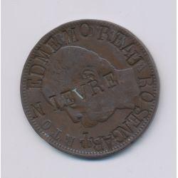 Monnaie publicitaire - 10 Centesimi 1893 - gravée