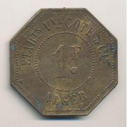Algérie - 1 Franc Fabrique Algérienne de blancs broyés