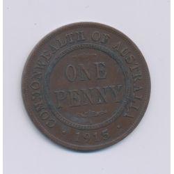 Australie - 1 Penny - 1919 - George V - cuivre - TTB