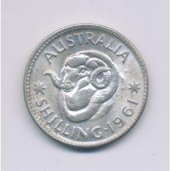 Australie - 1 Shilling - 1961 - argent - SUP