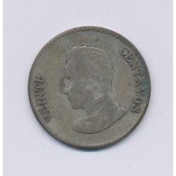 Colombie - 20 Centavos - 1953 B - argent - TB