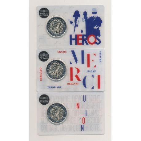 Lot 3 Coincard - 2€ France 2020