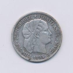Haiti - 20 Cent - 1895 Paris - argent - TTB