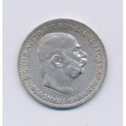 Hongrie - 1 Korona - 1915 - François Joseph I - argent - TTB