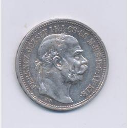 Hongrie - 1 Korona - 1915 - François Joseph I - argent - TTB+