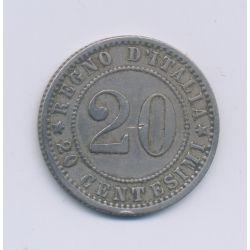 Italie - 20 Centesimi - 1895 R - cupro-nickel - TTB