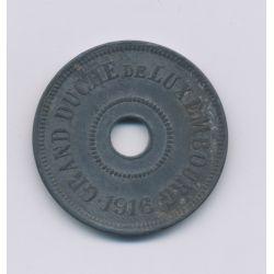 Luxembourg - 25 centimes - 1916 - zinc - TTB