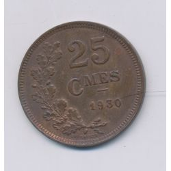 Luxembourg - 25 centimes - 1930 - cuivre - TTB
