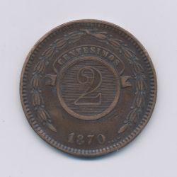 Paraguay - 2 centesimos - 1870 - bronze - TB+