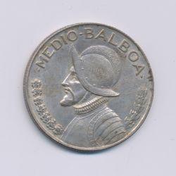 Panama - 1/2 Balboa - 1947 - argent - TTB