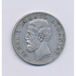 Roumanie - 1 LEU - 1881 V Vienne - argent - TB+