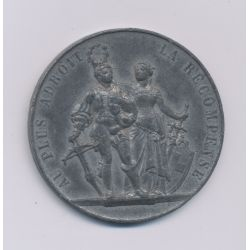 Suisse - Médaille - Tir fédéral Genève 1887 - étain - TTB