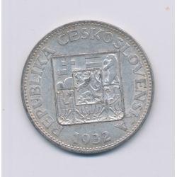 République Tchèque - 10 Korun - 1932 - argent - TB