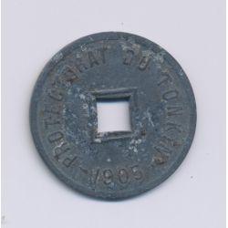Tonkin - 1/600 de piastre - 1905 A - zinc - TTB
