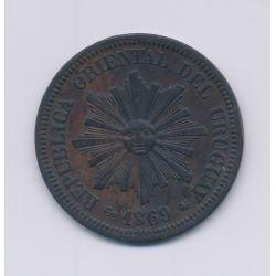 Uruguay - 2 Centesimos - 1869 A - bronze - TTB+