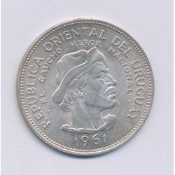 Uruguay - 10 Pesos - 1961 - argent - SUP