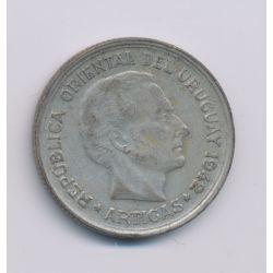 Uruguay - 1 Peso - 1942 Santiago - argent - TB