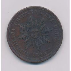 Uruguay - 40 Centimos - 1844 - cuivre - TB