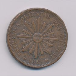 Uruguay - 40 Centimos - 1857 D - cuivre - TB+